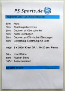 Trainingsplan Kraulen Frankfurt, Maintal, Hanau